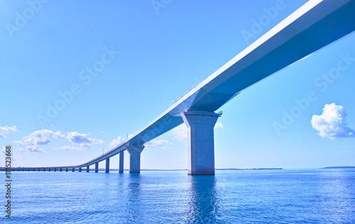 Canvas Prints Bridge 海上から見た伊良部大橋