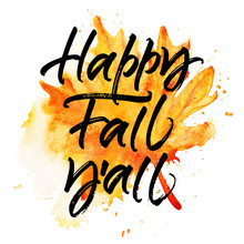 Happy Fall Y'all Autumn Greeting Card