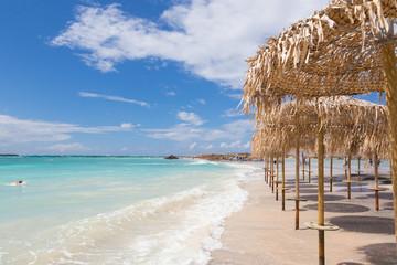 Elafonissi beach on Crete island, Greece.