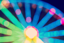 Ferris Wheel Blurred Abstract Background.