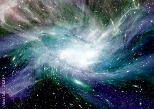 Keuken foto achterwand Nasa galaxy in a free space