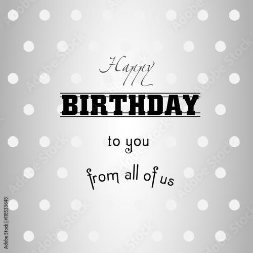 Happy birthday to you gentle greeting happy birthday polka