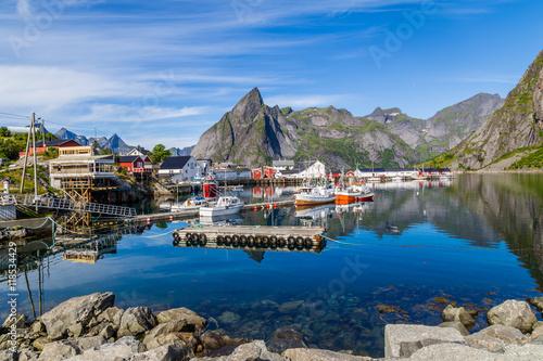 Picturesque harbor of Hamnoy Lofoten Islands, North Norway Slika na platnu