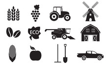 Agriculture And Farming Icon S...