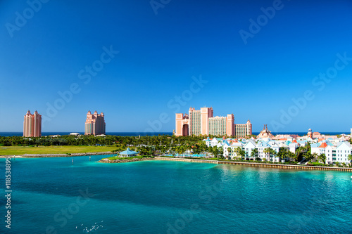 Photo Stands South America Country The Atlantis Paradise Island resort, located in the Bahamas