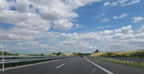 Fotografía  Freie Autobahn am Sonntag