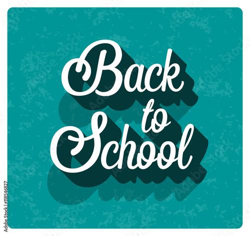 Fototapeta Back to school typographic design. obraz na płótnie