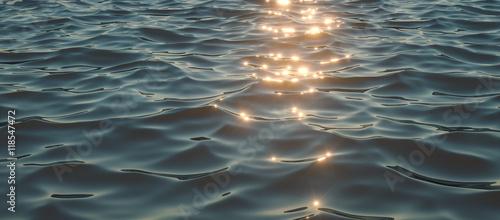 Stickers pour portes Eau Sparkling sunlight on oceanic waves