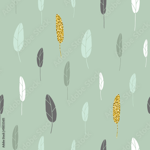 Leaf pattern.