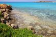 Azure sea at the Nissi beach in Ayia Napa Cyprus
