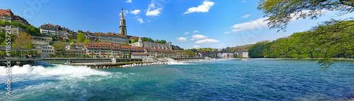 Obraz na płótnie Panorama, stary miasteczko Bern na Aare, Szwajcaria