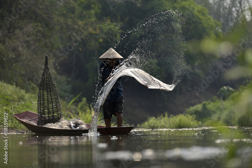Tuinposter Guilin Fishing