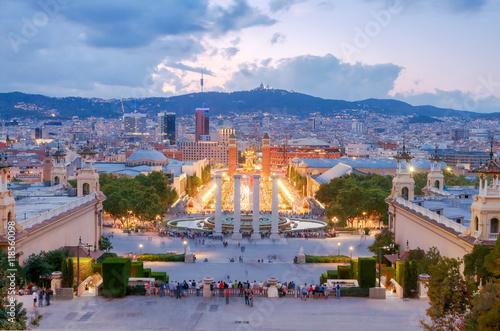 In de dag Barcelona Magic Fountain in Barcelona.