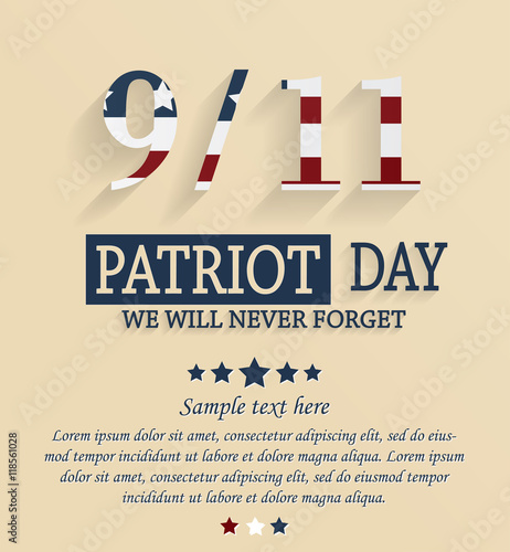 Fotografia  Patriot day card with place for your text