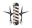 flat design barber shop emblem icon vector illustration