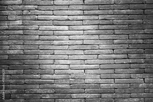 Foto op Plexiglas Brick wall texture pattern or brick wall background for interior or exterior design with copy space for text or image. Black and white.