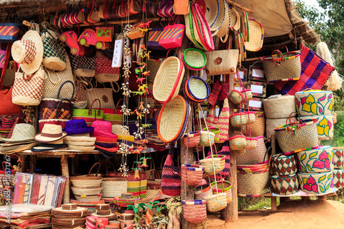 Staande foto Afrika Colorful souvenirs at a market in Africa