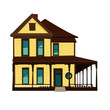 Vector image of wooden countryhouse