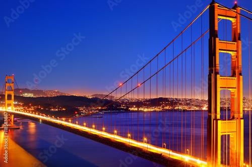 Spoed Foto op Canvas Groen blauw Golden Gate bridge