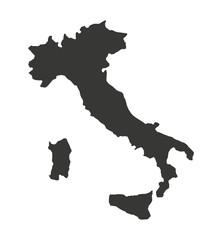 karta Italije izolirana silueta