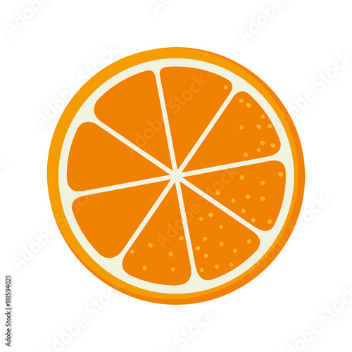 orange fruit food natural organic nutrition nature vector illustration Fotomurales