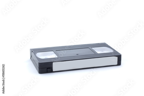 Fotografija  Videocassette on white background, isolated