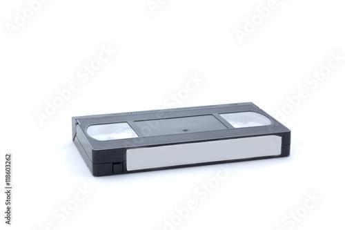Fényképezés  Videocassette on white background, isolated
