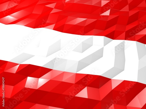 fototapeta na lodówkę Flag of Austria 3D Wallpaper Illustration