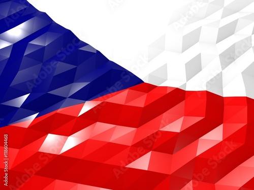 Photo  Flag of Czech Republic 3D Wallpaper Illustration