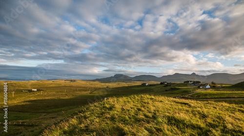 Valokuva  Feld und Himmel in Schottland