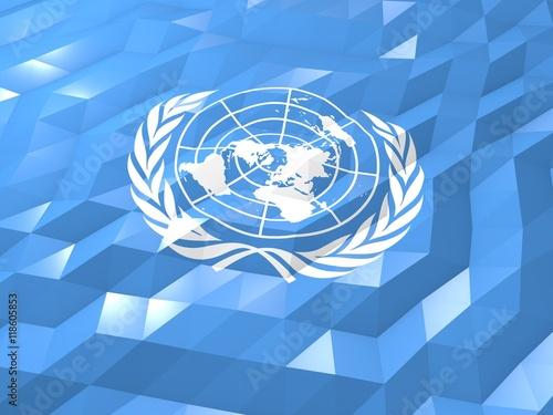 Fotografía  Flag of United Nations 3D Wallpaper Illustration