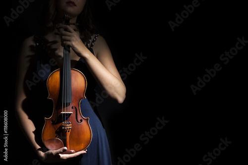 Leinwand Poster Violinist in den Händen der Geige.