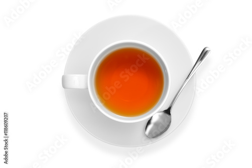 Poster Tea Cup of tea isolated on white background