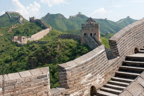 Deurstickers Chinese Muur Great Wall of China, Miyun District, Habei, China