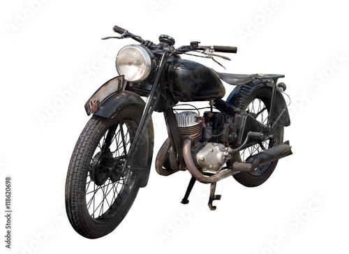 Deurstickers Fiets altes antikes oldtimer motorrad, vintage bike