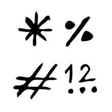 Doodle Signs Icon Drawing Illu...
