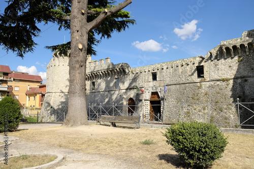 avezzano castle in abruzzo italy Canvas Print