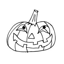 Doodle Halloween Pumpkin Icon Hand Draw Illustration Design