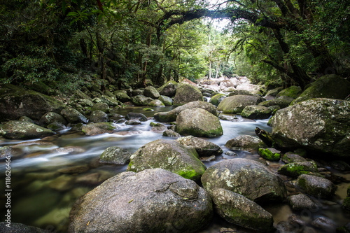 Aluminium Prints Forest river Mossman Gorge Rapids