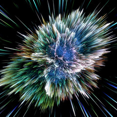 FototapetaColorful galaxy clouds and big bang abstract star texture