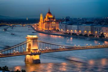 Fototapeta na wymiar Parliament of Hungary in Budapest