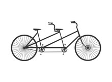 Flat Design Tandem Bicycle Ico...