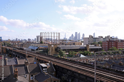 Fototapeta view over bethnal green