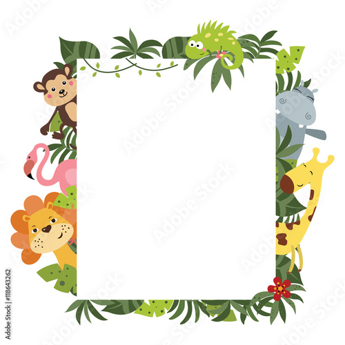 Frame with African animals Poster