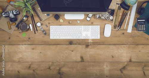 Fototapeta Top view office obraz