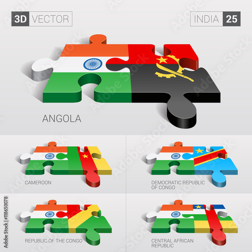 India and Angola, Cameroon, Democratic Republic of Congo