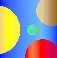 Fototapeta Kosmos Космос