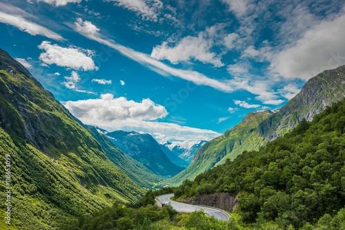 Obraz na plátně Scenic Norway Landscape