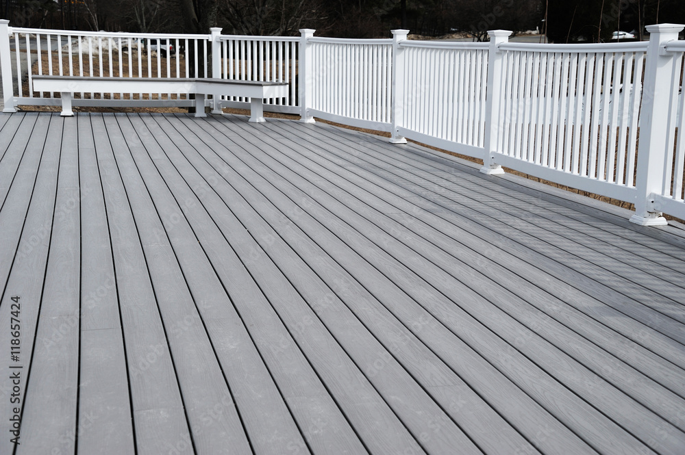 Fototapety, obrazy: painted deck
