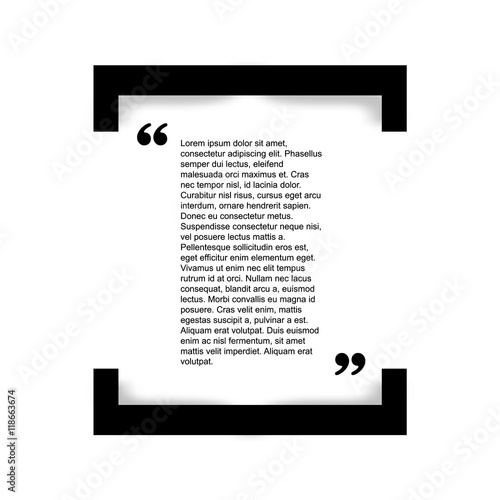 Fotografía  Quote bubble Typographical Poster Template.